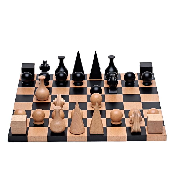 Man Ray Schachspiel von Klein & More aus 32 Figuren mit Spielbrett, 40 x 40 cm