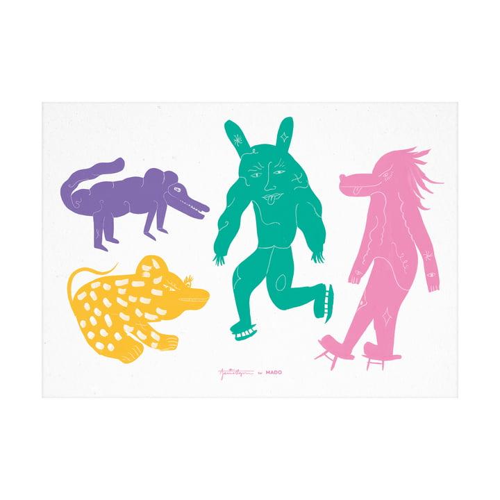 Das Four creatures Multi Poster von Paper Collective, 50 x 70 cm