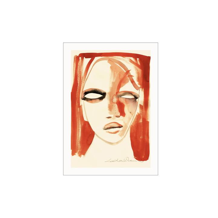 Das Red Portrait Poster von Paper Collective, 30 x 40 cm