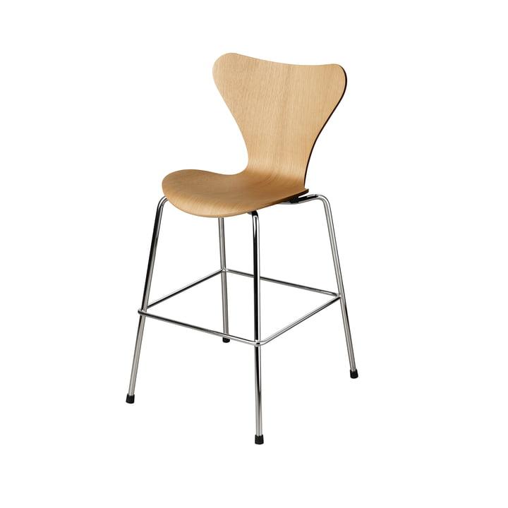 Der Serie 7 Junior Stuhl von Fritz Hansen, Chrom / Eiche