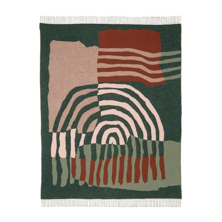 Die Vuosirenkaat Decke von Marimekko, 130 x 170 cm, beige / grün / rosa (Herbst 2021)