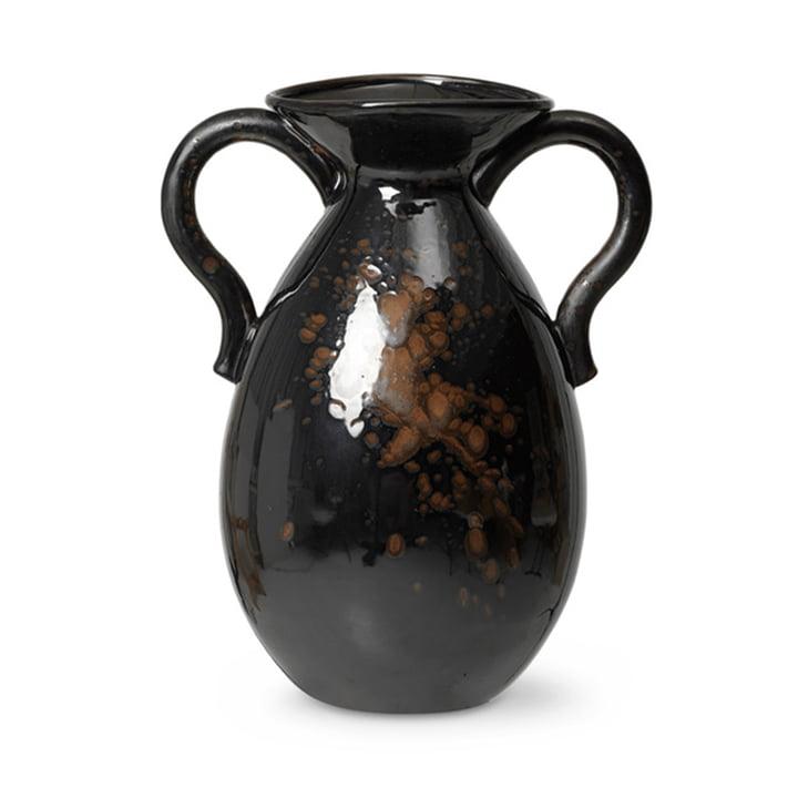 Verso Bodenvase H 49 cm von ferm Living in schwarz / braun
