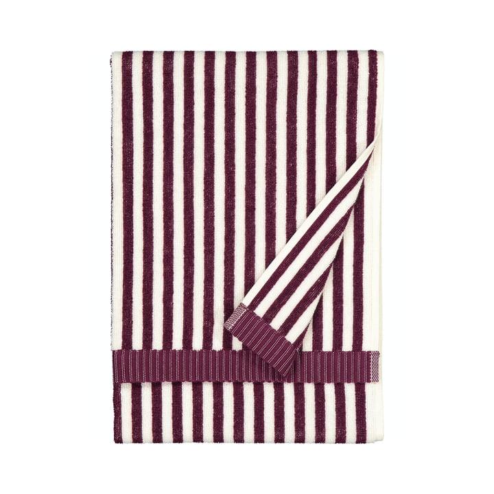 Das Ujo Handtuch von Marimekko, 50 x 70 cm, weiß / brombeere