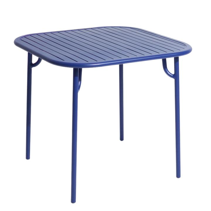 Der Week-End Tisch von Petite Friture, 85 x 85 cm / blau