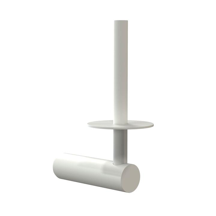 Der Nova2 Toilettenpapierhalter für Ersatzrolle von Frost, weiß