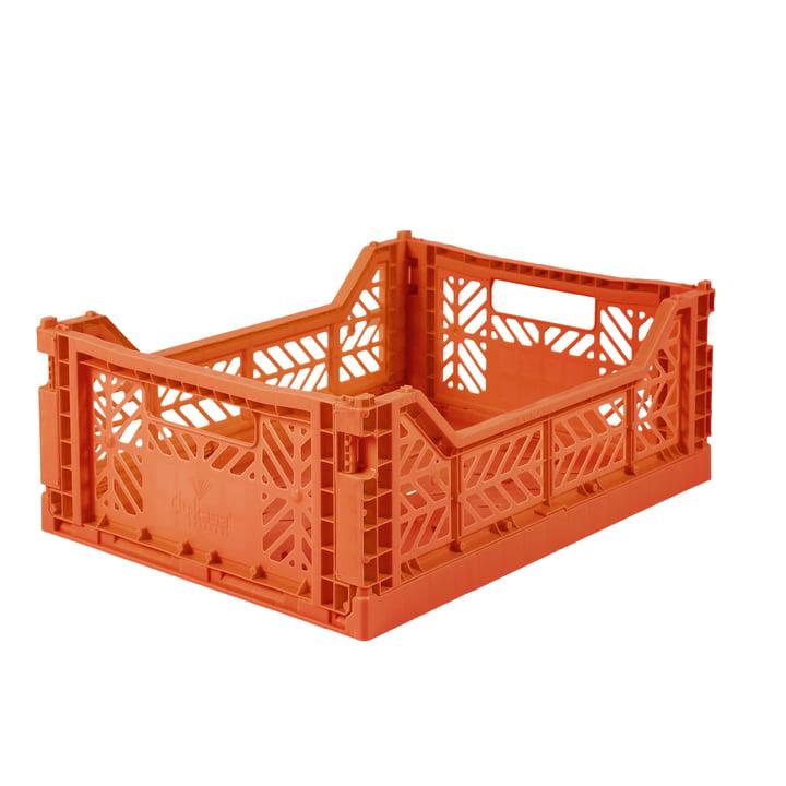 Faltkiste Midi 40 x 30 cm von Aykasa in orange