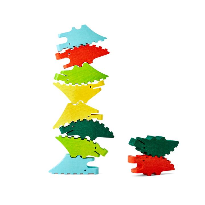 Die Croc Pile Mini Holzkrokodile von Areaware, bunt (10er-Set)
