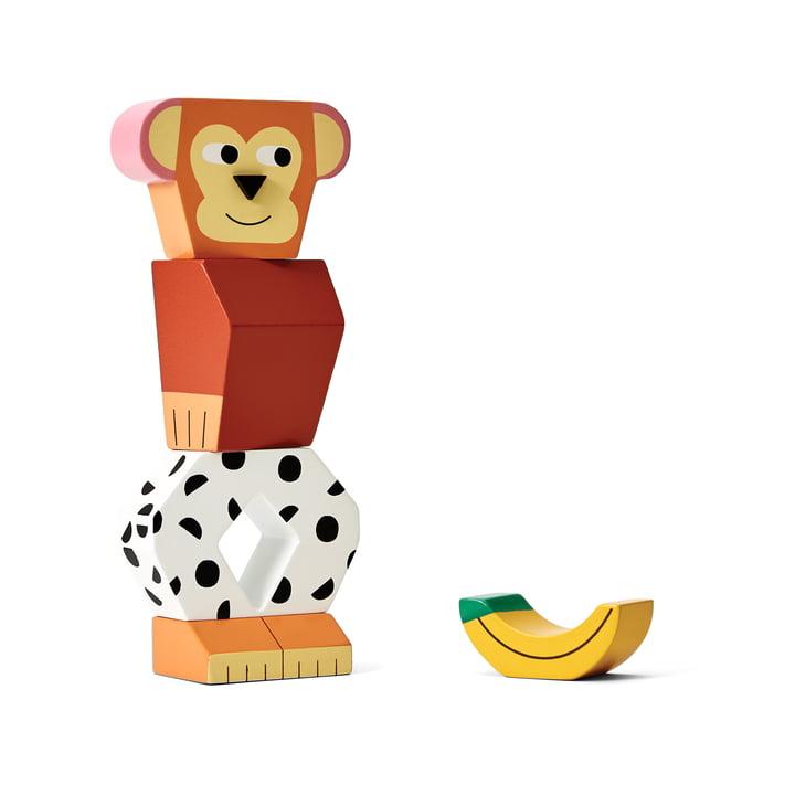 Block Party Holz Spielzeug von Areaware in der Variante Affe
