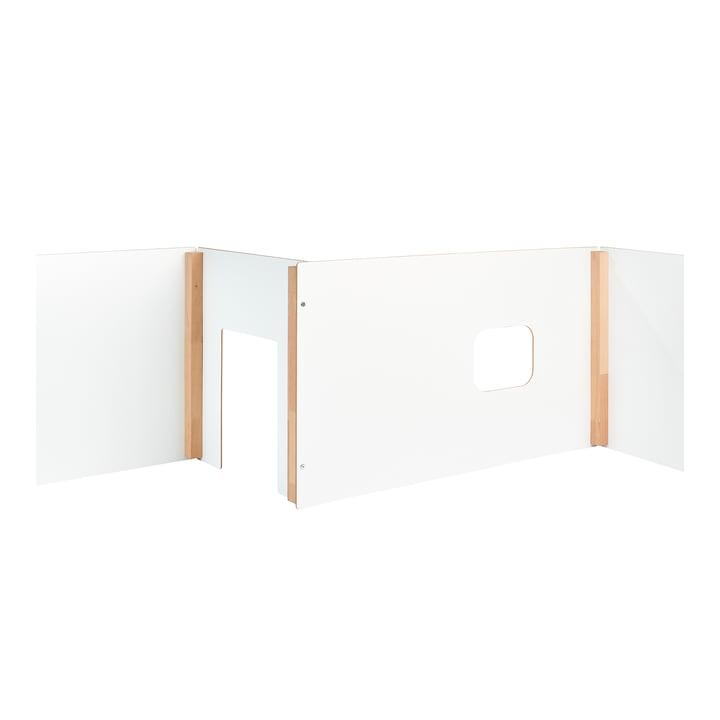 wand Kinderspielhaus und Raumtrenner von Tojo in weiß / Buche