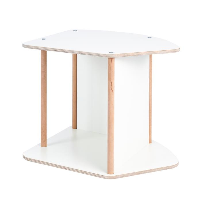 multi Kinder-Tisch und Wippe von Tojo in weiß / Buche