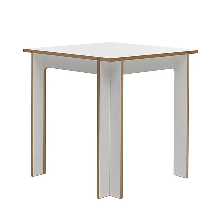 Tisch 75 x 75 cm von Tojo in weiß