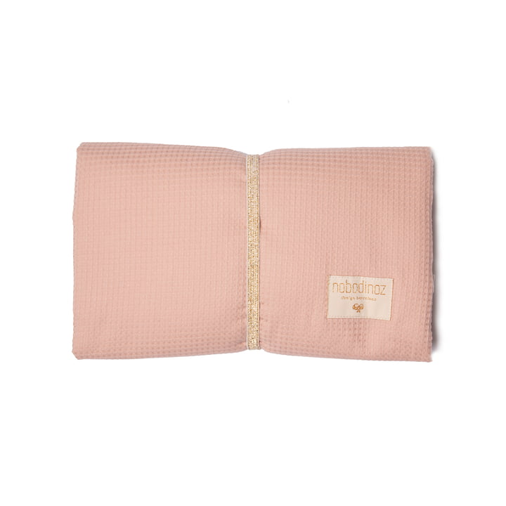 Mozart Wickelunterlage mit den Maßen 50 x 68 cm von Nobodinoz in misty pink