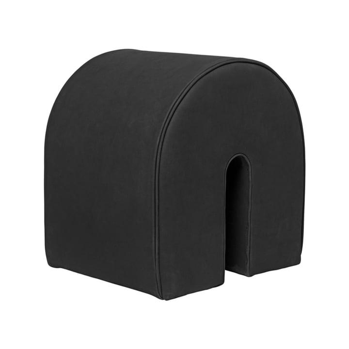 Curved Pouf, H 42 cm von Kristina Dam Studio in schwarz
