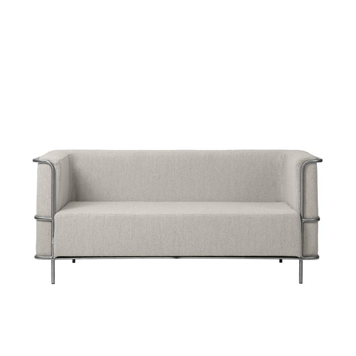 Modernist Sofa 2-Sitzer von Kristina Dam Studio in beige (Bouclé)