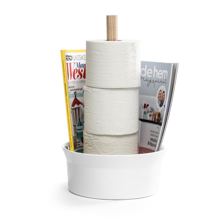 Der Angle Toilettenpapierhalter von Born in Sweden, Esche / weiß glänzend