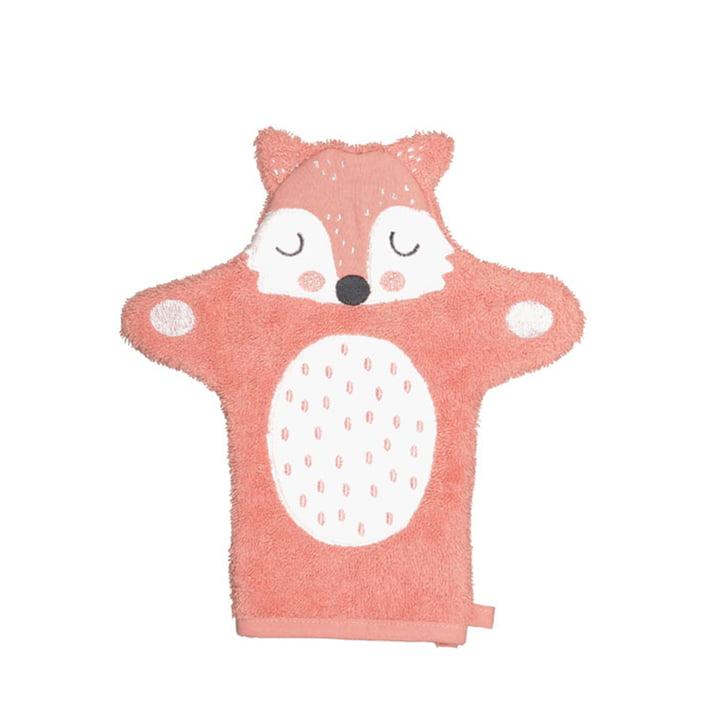 Der Frida Fox Kinder Waschhandschuh von Södahl, 11 x 21 cm, orange