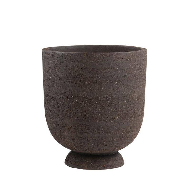 Der Terra Pflanztopf und Vase von AYTM, Ø 40 x H 45 cm, braun