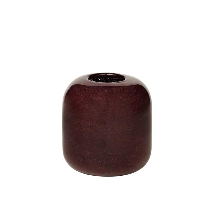 Die Kai Vase von Broste Copenhagen, H 13,5 cm, puce aubergine