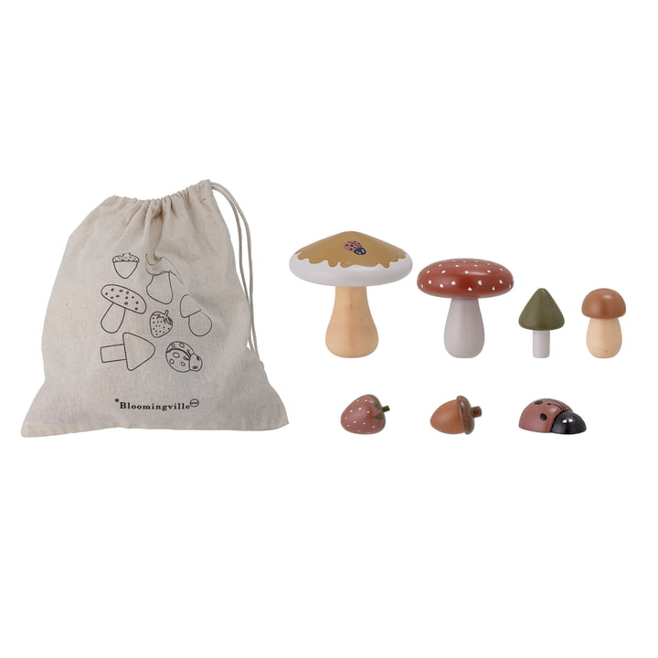 Jonn Spielzeug von Bloomingville in Lotus natur (7-teilig)