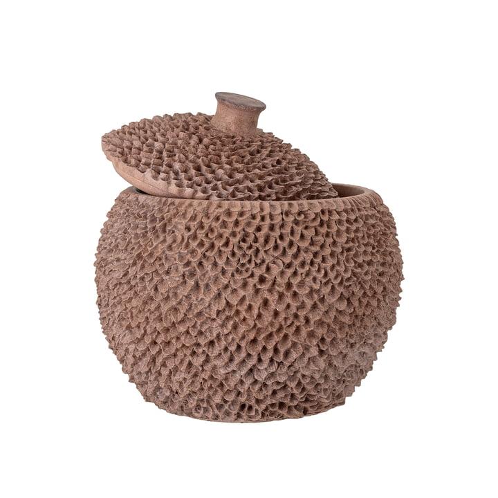 Die Cassia Aufbewahrungdose mit Deckel von Bloomingville, H 25 cm, braun