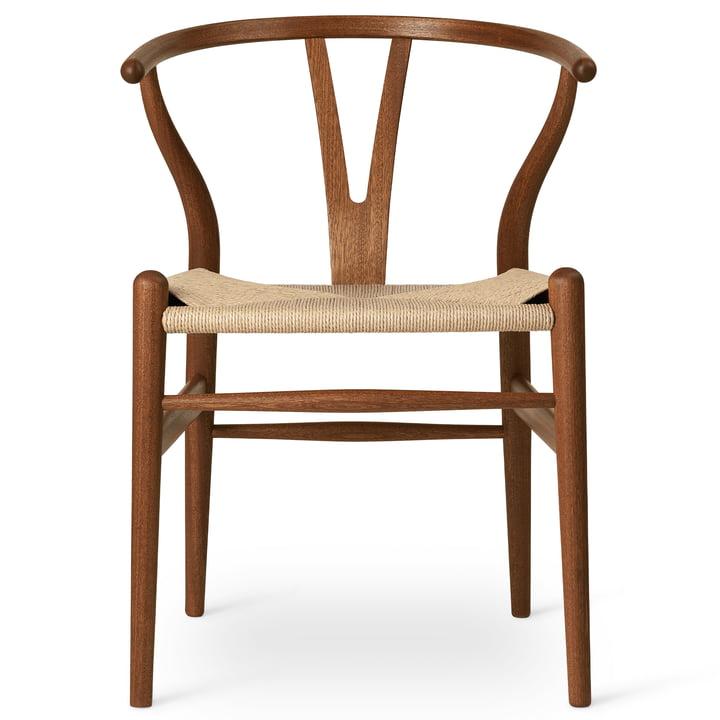 CH24 Wishbone Chair von Carl Hansen in Mahagoni geölt / Naturgeflecht