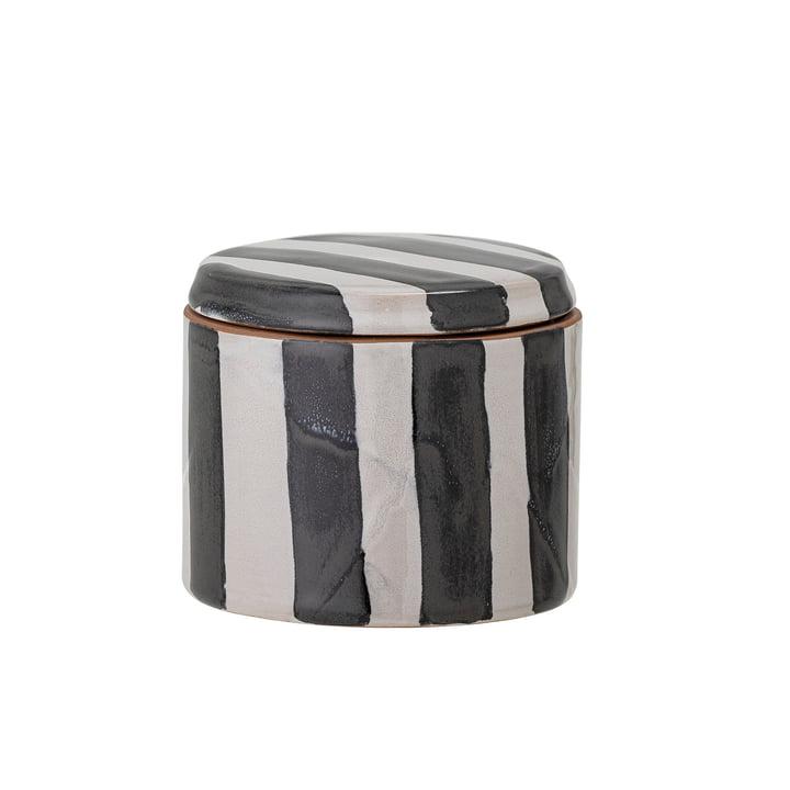 Serina Vorratsdose, H 7,5 cm, schwarz / weiß von Bloomingville