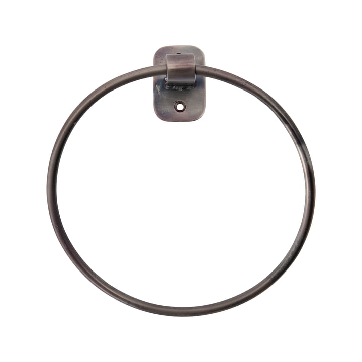 Pati Handtuchhalter Ring von House Doctor in black antique