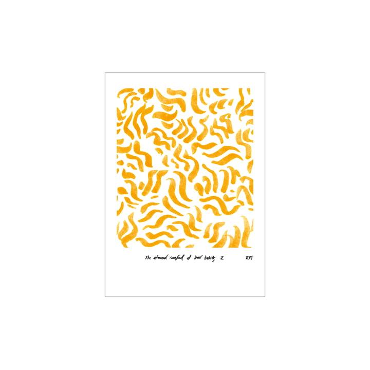 Comfort Poster 30 x 40 cm von Paper Collective, gelb