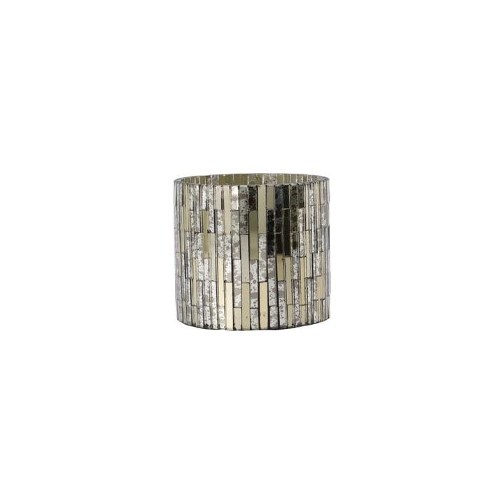 Cara Mosaik Teelichthalter Ø 7.5 x H 7.5 cm von House Doctor, silber