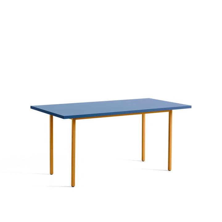 Two-Colour Esstisch von Hay in den Maßen 160 x 82 cm in der Farbe blau / ocker