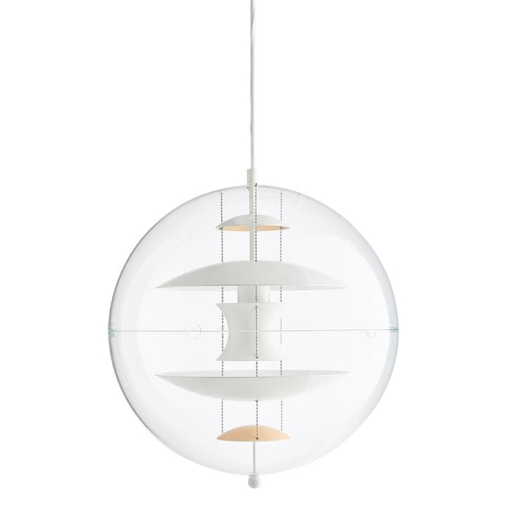 VP Globe Pendelleucht Ø 40 cm von Verpan in warm peach / weiß / klar