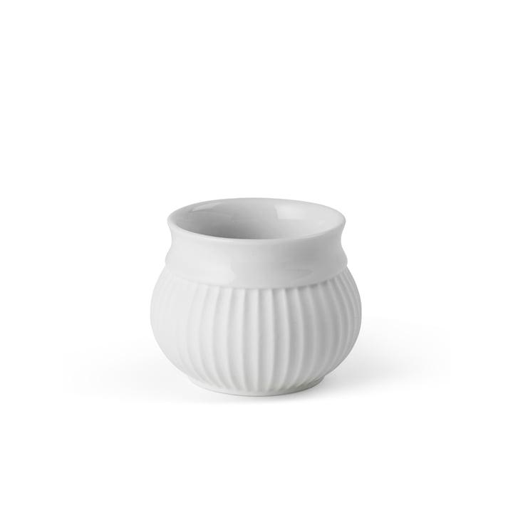 Curve Teelichthalter Ø 6.5 cm, weiß von Lyngby Porcelæn