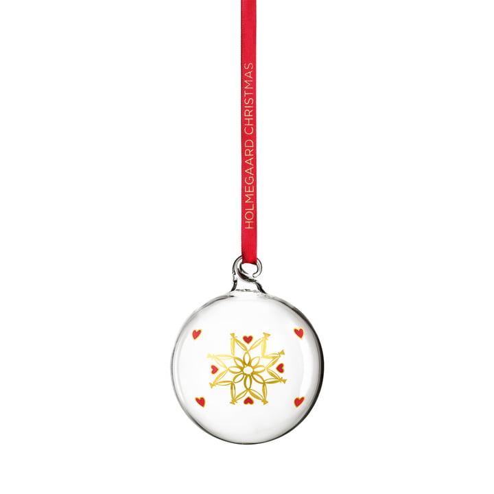 Weihnachtskugel 2021 von Holmegaard in klar