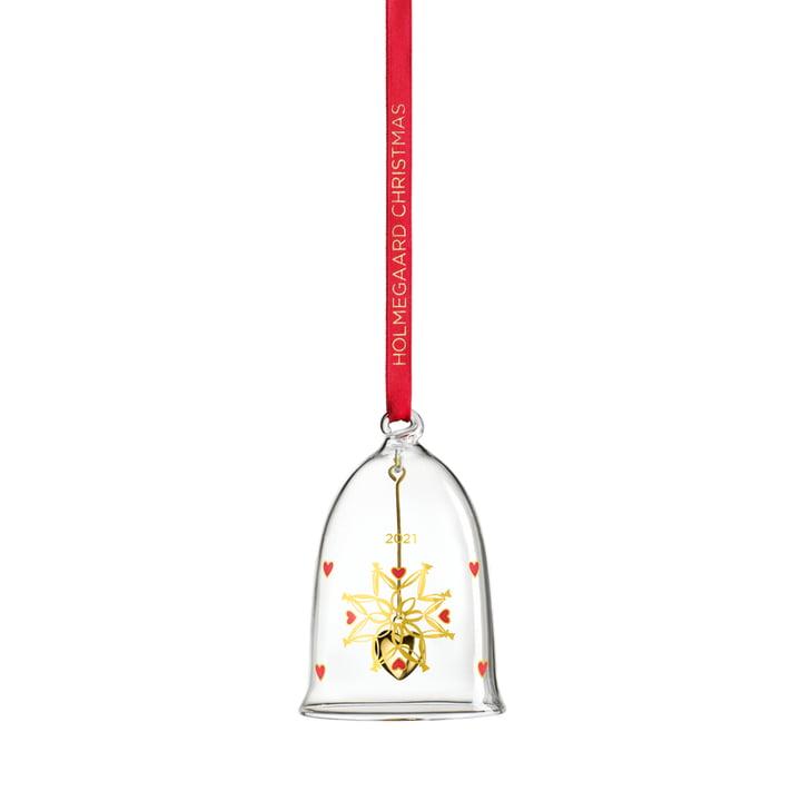 Weihnachtsglocke 2021 H 8 cm von Holmegaard in klar