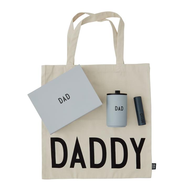 Dad Geschenkbox von Design Letters in grau