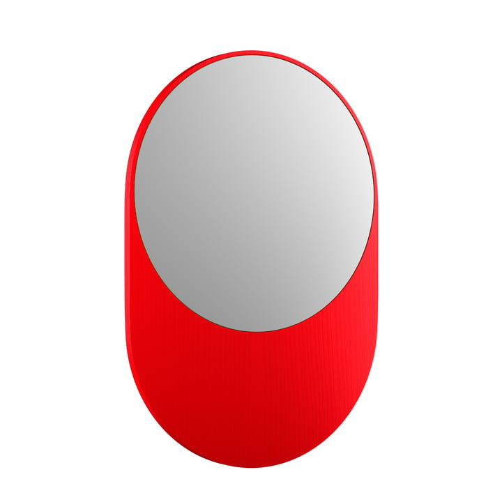 Koch Spiegel, 55 x 80 cm, leuchtrot von Objekte unserer Tage
