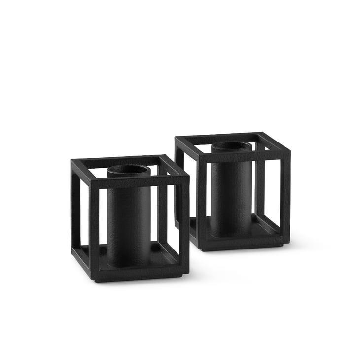 Kubus Micro Kerzenhalter von by Lassen in der Farbe schwarz
