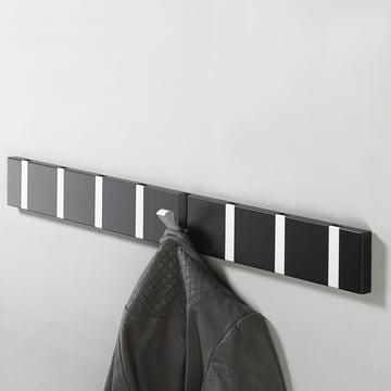 Die Loca - Knax 8 Garderobenleiste in Schwarz, Alu