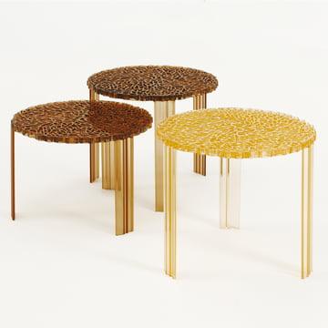 Kartell - T-Table, gelb und bernsteinfarben