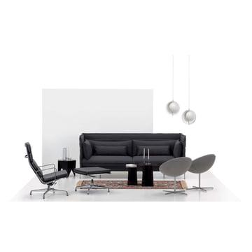 Soft Pad Chair EA 222 Sessel mit EA 223 Hocker von Vitra