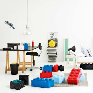 Lego - Storage Box, blau, rot, Head L