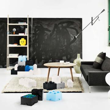 Lego - Storage Box, blau, Head L