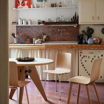 Vitra - Guéridon Esstisch, Eiche natur - Küche