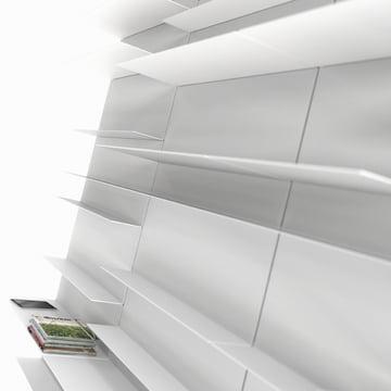 Frost - Unu Regalsystem, Ambientebild Regalwand weiß