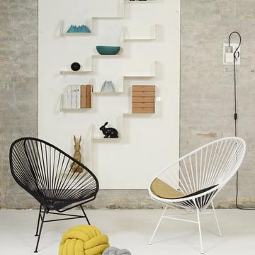 OK Design - The Acapulco Chair, schwarz, weiß