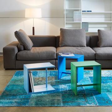 wb form - Ulmer Hocker, blau / grün