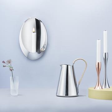 Stelton - Aura Wandkerzenhalter, Reflection Kerzenständer