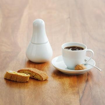 Kahla - Magic Grip Espresso, weiß, auf dem Boden platziert