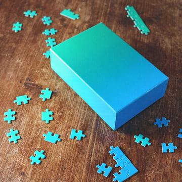 Areaware - Farbverlauf Puzzle, blau / grün