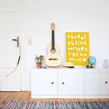 deko mit buchstaben wohntrend typografie. Black Bedroom Furniture Sets. Home Design Ideas